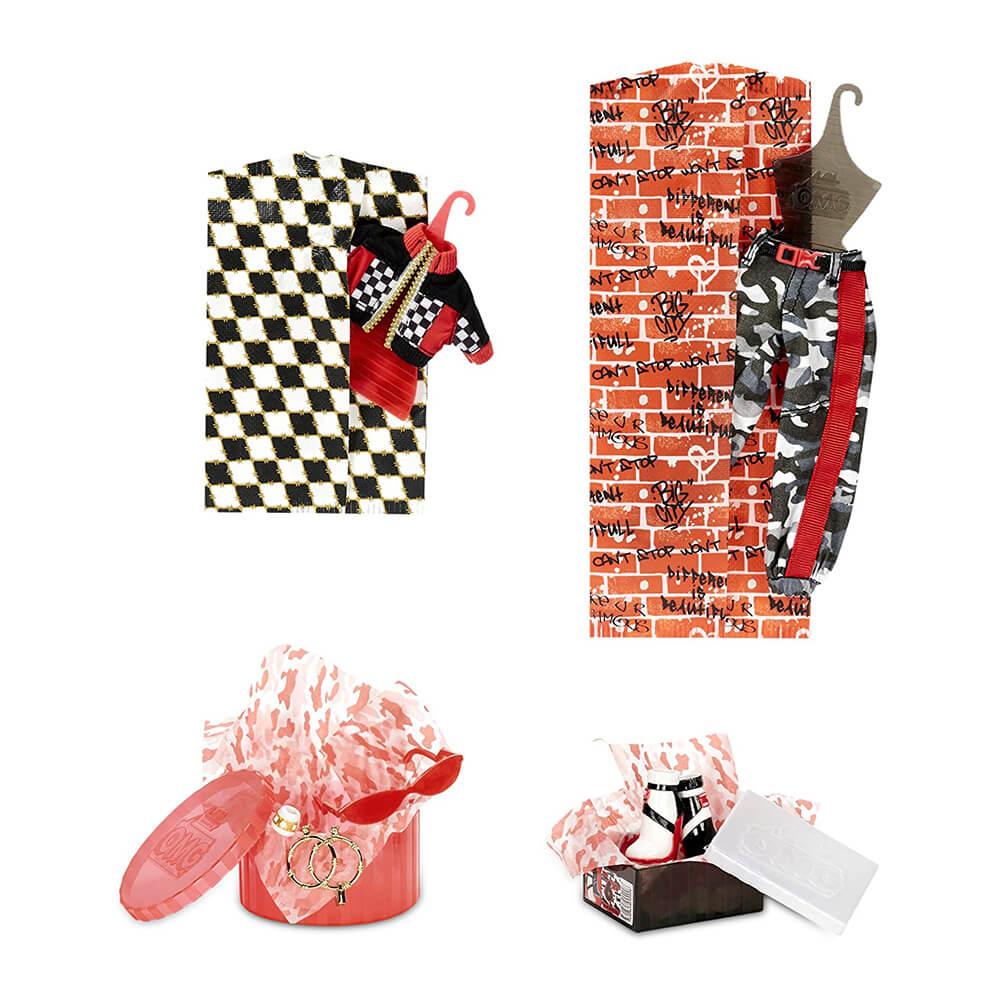 Большая кукла LOL Surprise OMG Downtown B.B. с 20  сюрпризами (2 серия) - 4